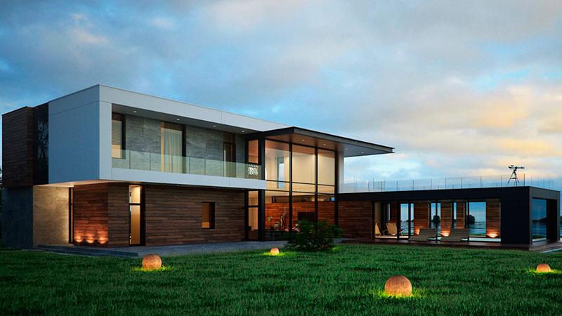 архитектурный стиль каркасных домов