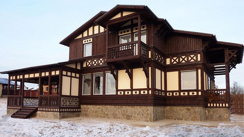 фото проекта готового каркасного дома