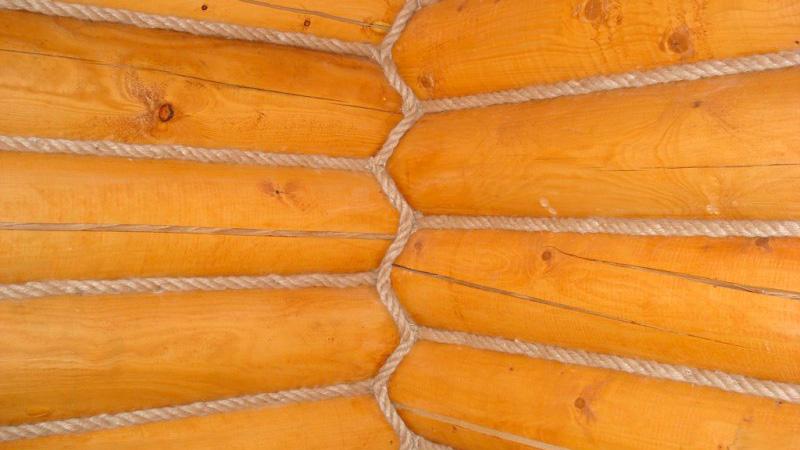 фото внутренней отделки деревянного дома канатом