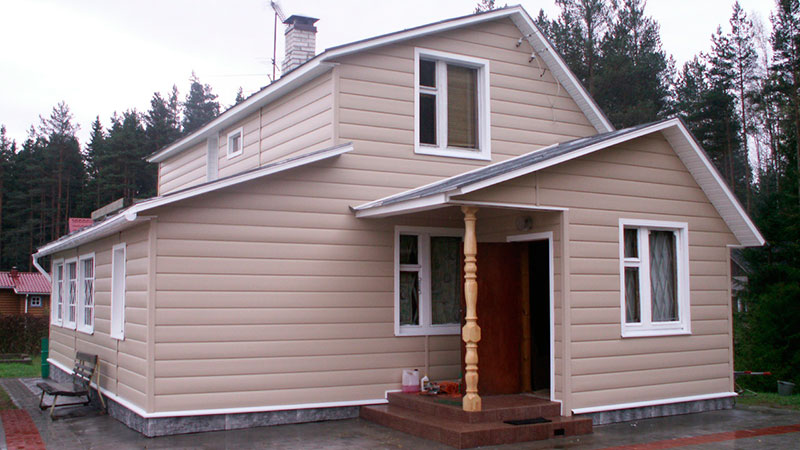 внешняя отделка деревянного дома сайдингом