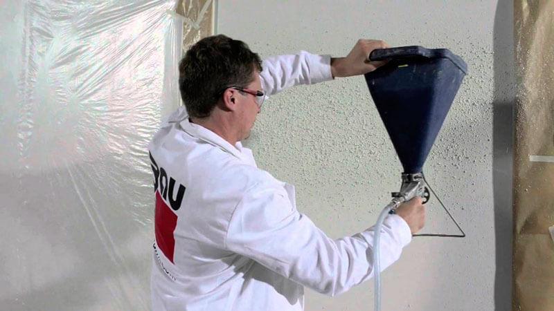 механизированная штукатурка стен под покраску