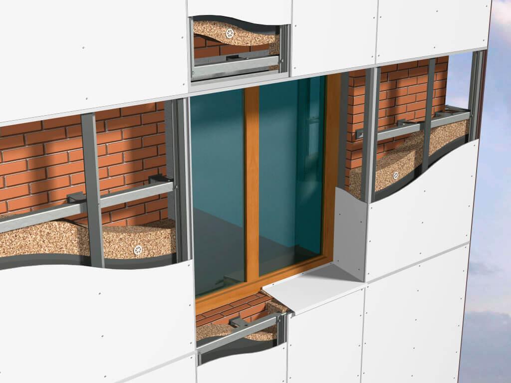 Отделка навесным вентилируемым фасадом