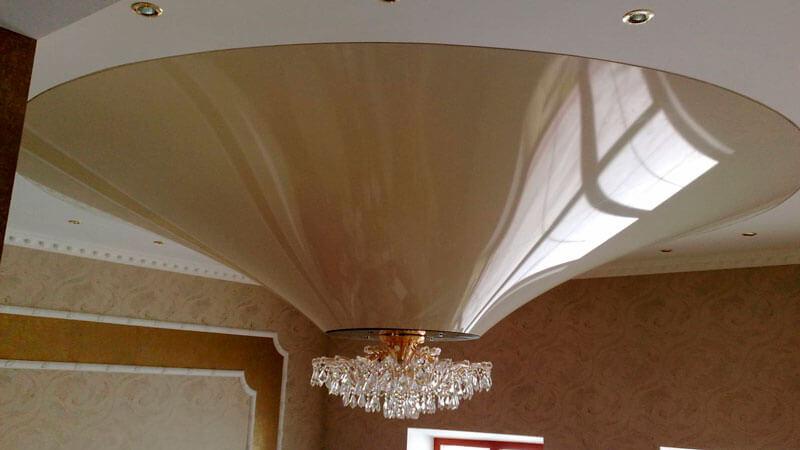 конусовидная форма натяжного потолка